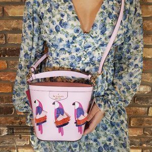 Pippa Flock Party Kate Spade Small Bucket Bag NWT